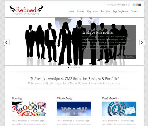 Refined - responsive Business/Portfolio CMS theme