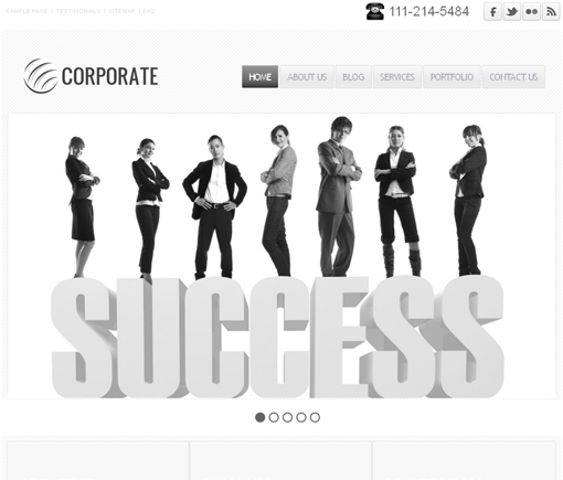 Corporate A responsive Multipurpose Business Theme