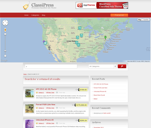 Search Page Map