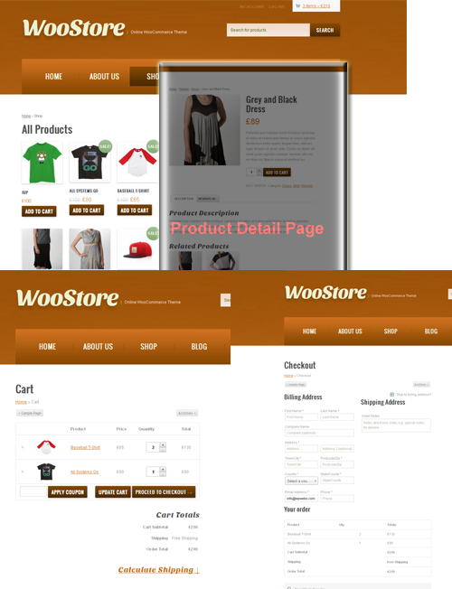 Online Store Pages