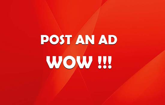 Post An Ad WOW