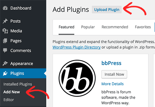 Install a Plugin using the WordPress Admin Plugin Upload - Premium ...